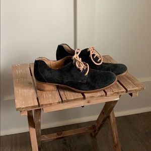 Suede black Oxford shoes by Born